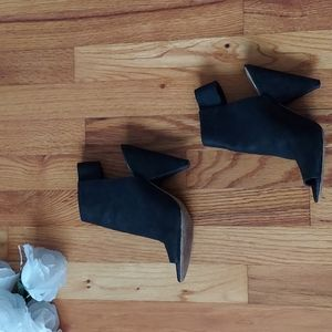 Vince Camuto Cam Open Toed Black Leather Booties Size 7